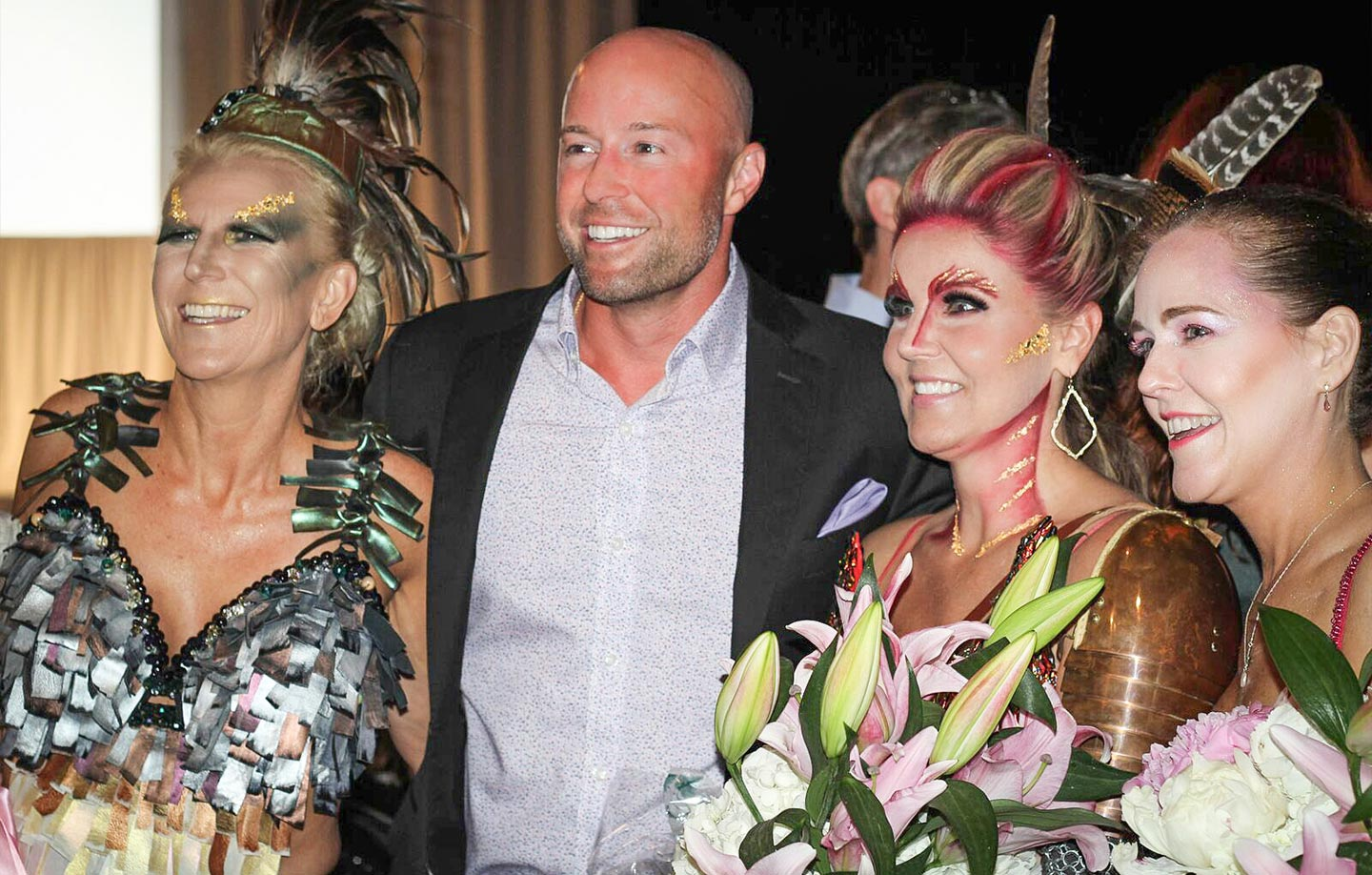 Dr. Rocco Piazza at Art Bra Austin – a place where art, fashion, and the mystique of masquerade collide – benefitting the Breast Cancer Resource Centers of Texas