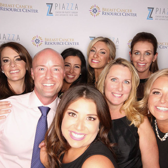 Dr. Piazza with his staff at The Terrace Club for the 2016 Cocktails and Curiosity event raising over $6,000 for Breast Cancer Resource Centers of Texas